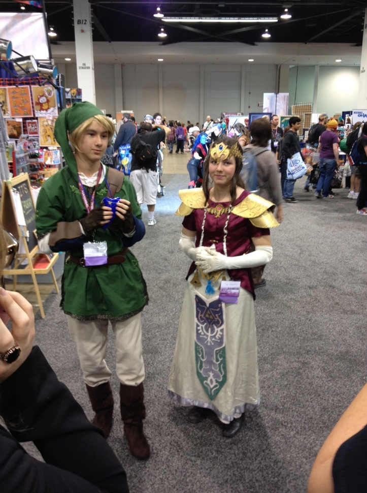 Zelda on the left. Link on the right, right?