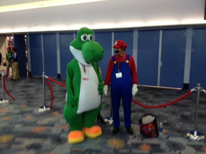 Mario and Yoshi slumming it.